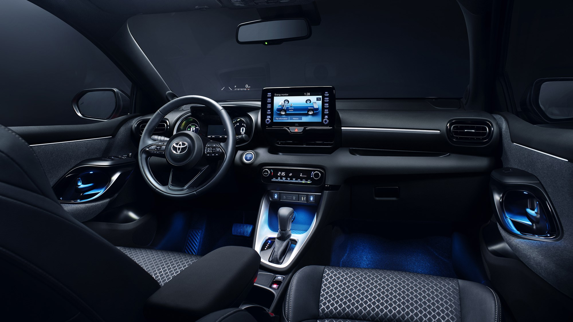 Toyota Yaris Hybrid 2020 cabin