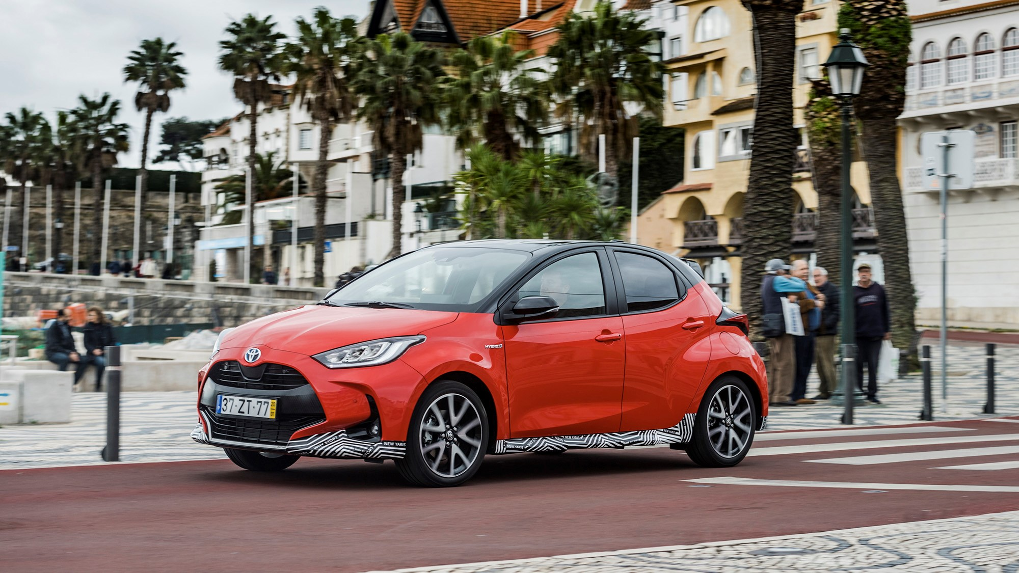 Toyota Yaris Hybrid 2020 driving front