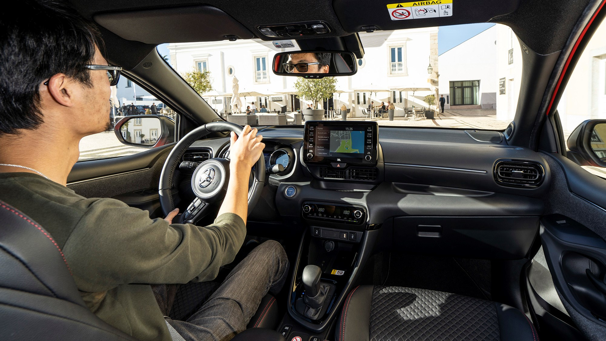 Toyota Yaris Hybrid 2020 town driving