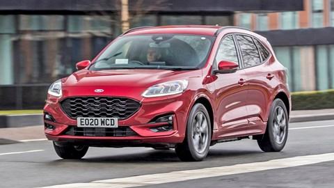 Red 2021 Ford Kuga PHEV
