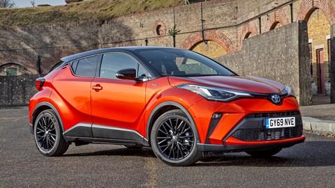 Orange 2020 Toyota CH-R Hybrid