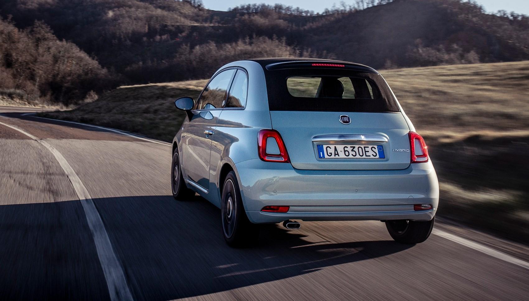 Fiat 500 hybrid rear tracking