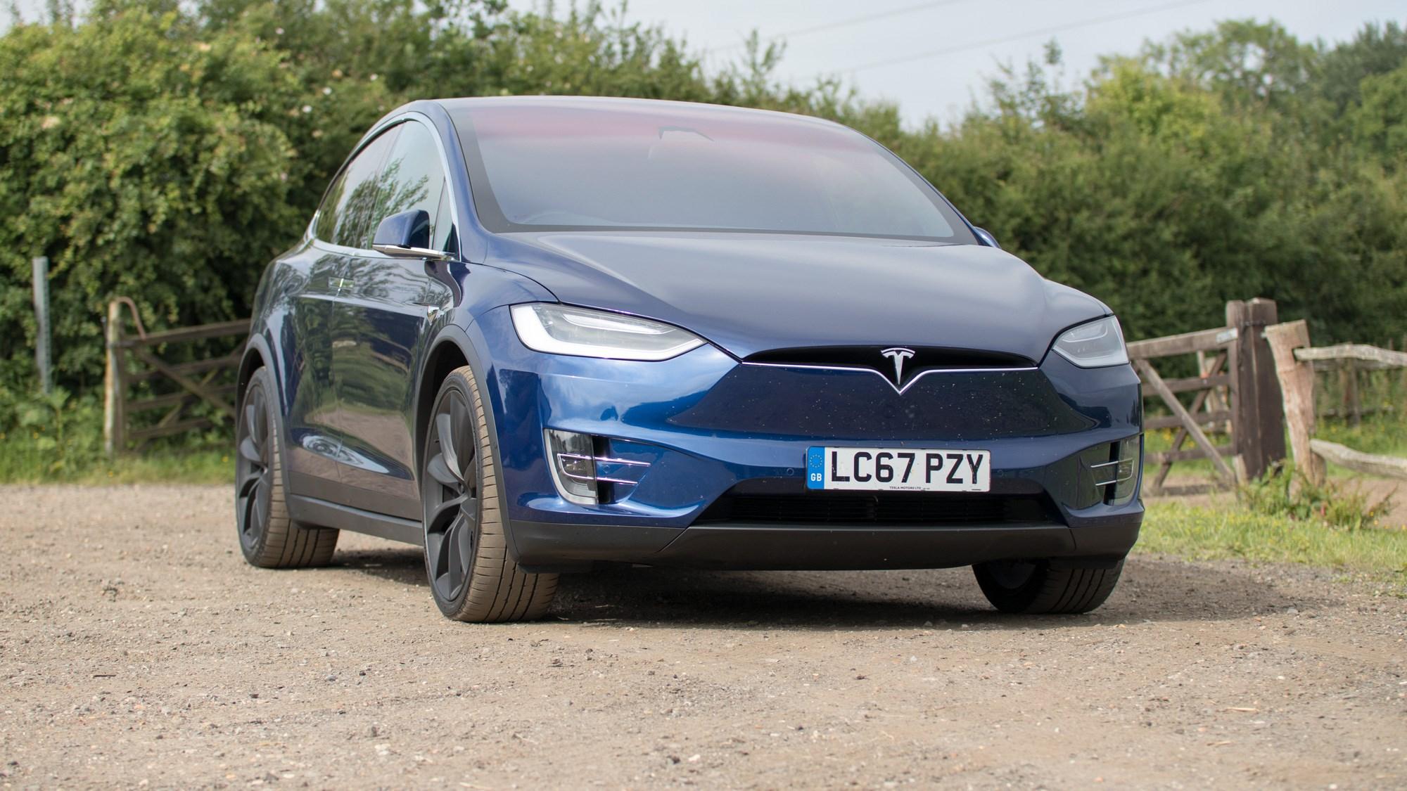2017 Tesla Model X, front, doors open