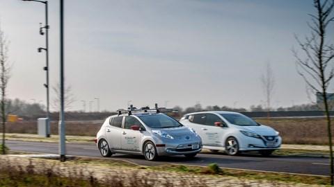 Nissan Leaf Human Drive autonomous driving (AD) prototype