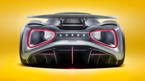 Rear of the year: the new Lotus Evija will dispatch the 0-60mph run in less than three seconds!