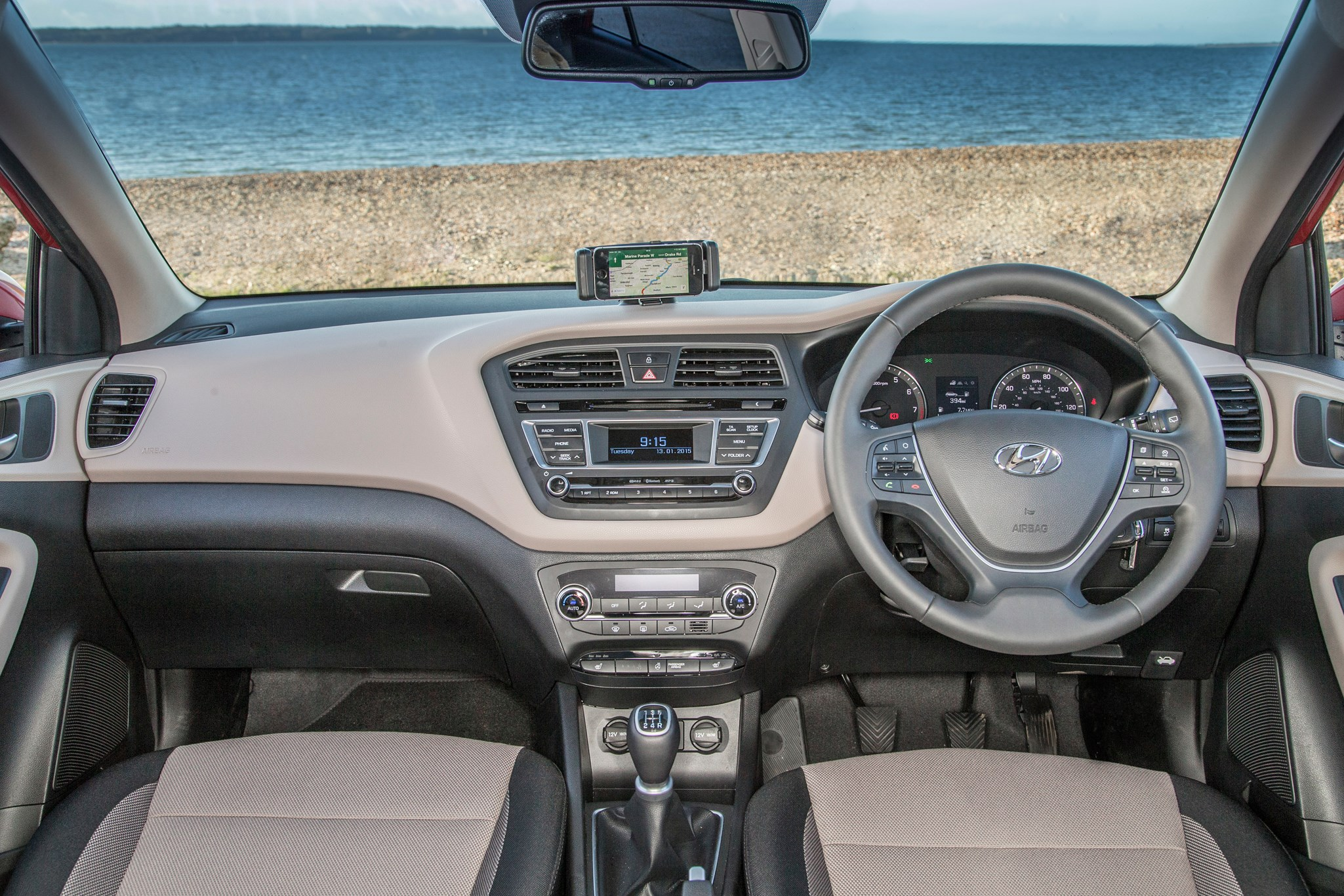 2011 hyundai i20 reviews specifications photos price -  Contrast Colour Scheme In This Particular Hyundai I20 Makes The Interior A Bit More Interesting