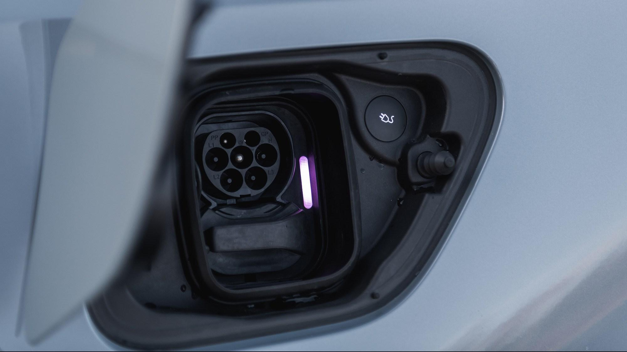 2020 Polestar 2 recharging socket