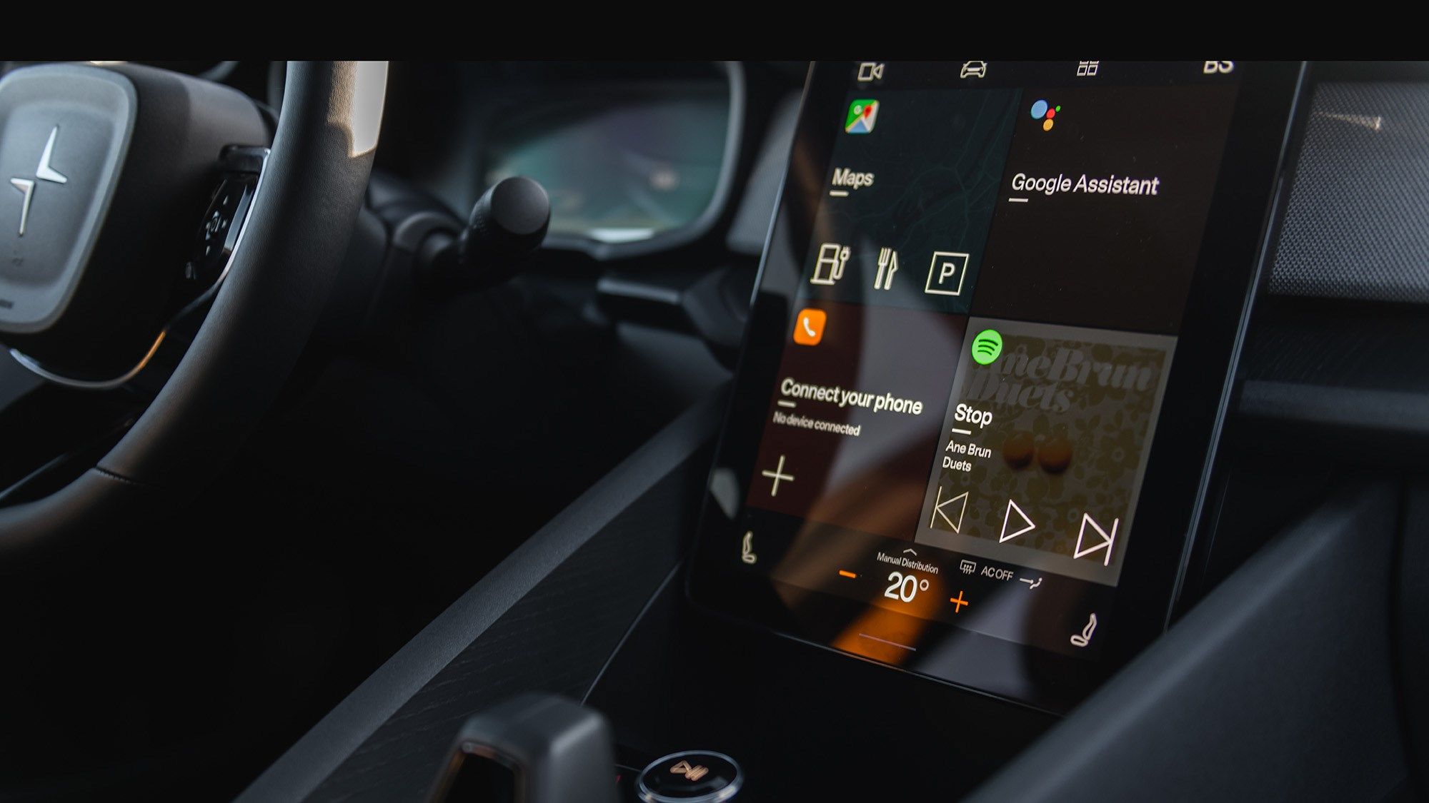 2020 Polestar 2 infotainment powered by Android