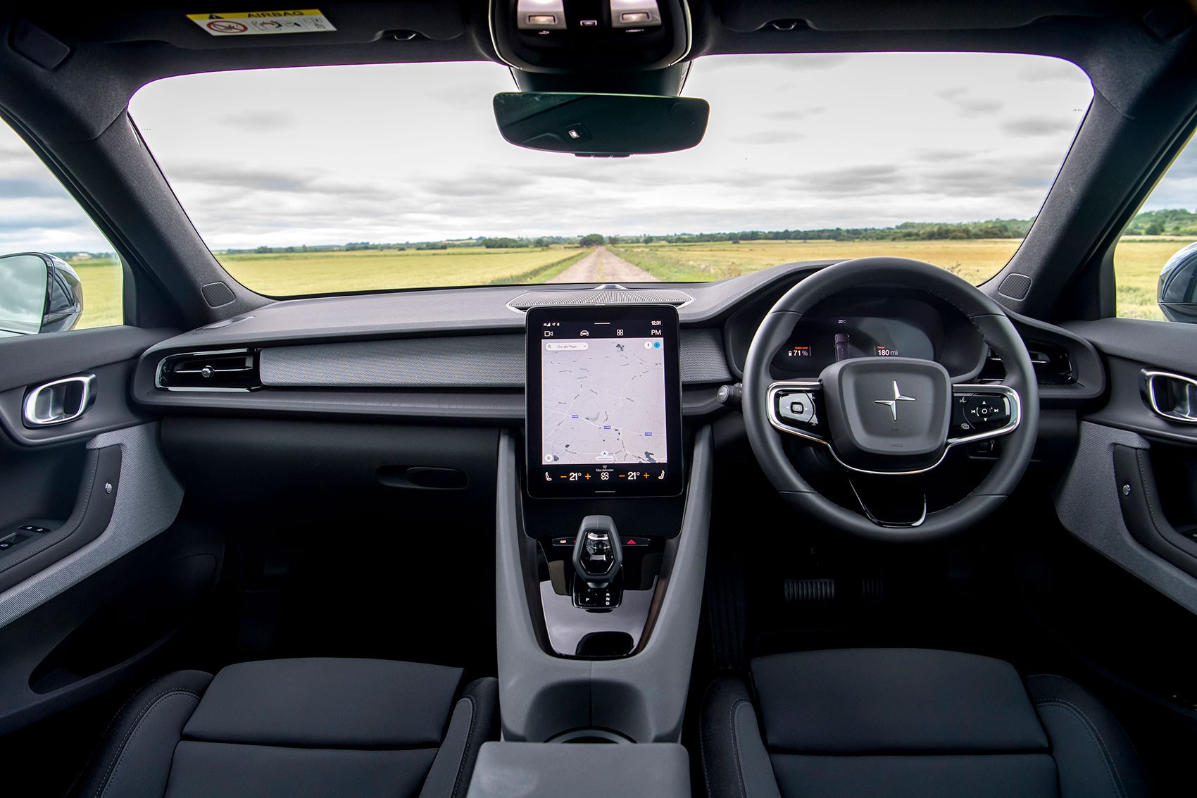 Polestar 2 interior, right-hand drive: this is the Performance spec