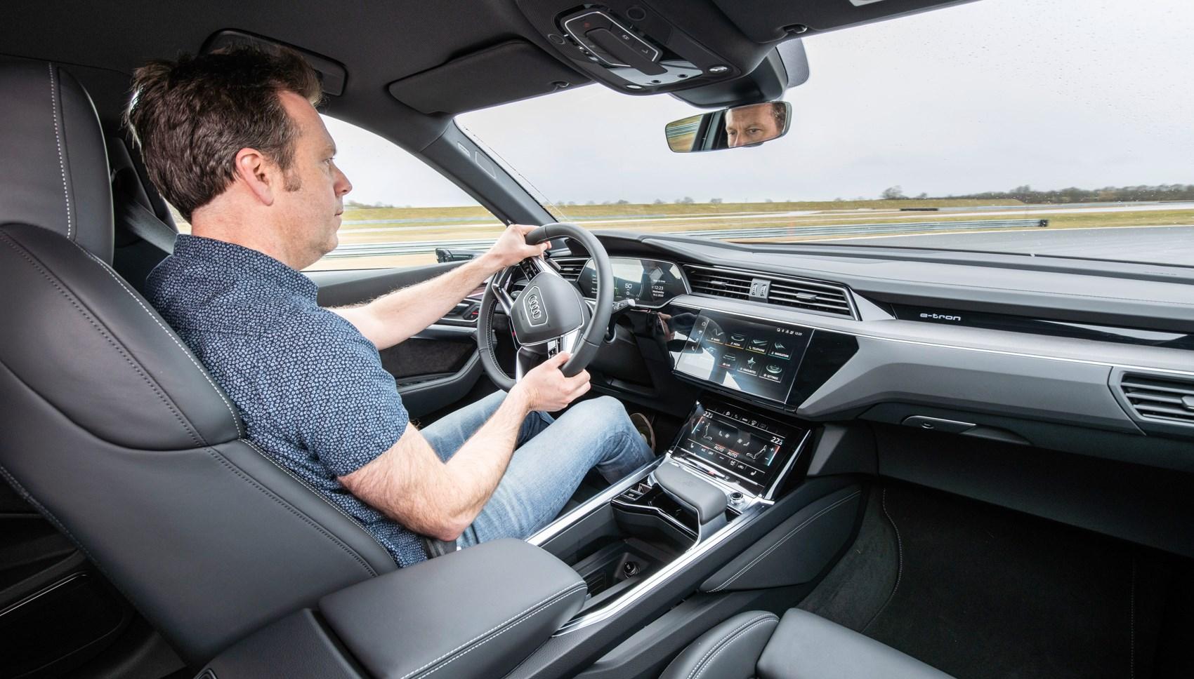 Audi e-Tron SUV Ben driving