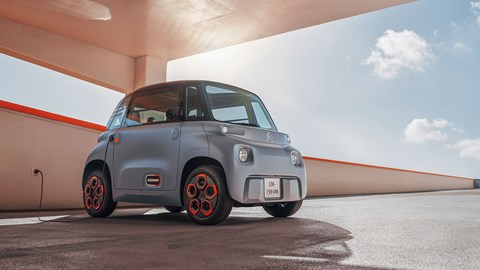 The Citroen Ami electric car has a 5.5kWh lithium-ion battery for a range of 43 miles