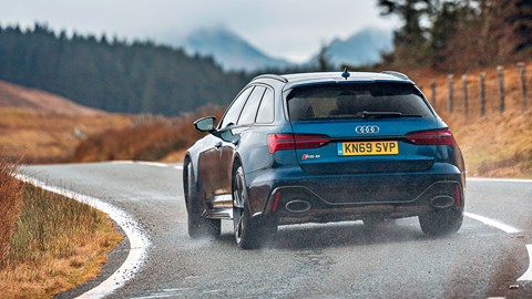 Audi RS6 Avant: yes, it'll oversteer on a wet enough road