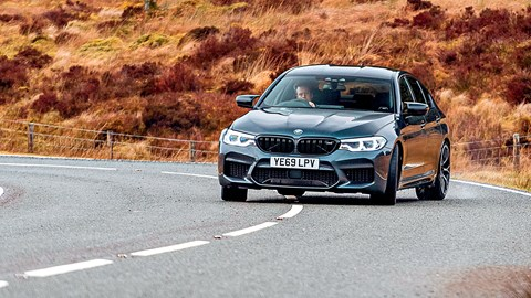 BMW M5 doing its thing