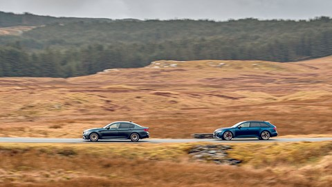 BMW M5 leads Audi RS6 in Wales