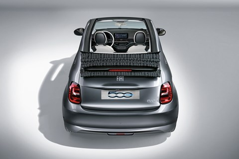 Fiat 500 electric rear overhead