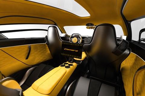 Koenigsegg Gemera, 2020, interior from rear seats