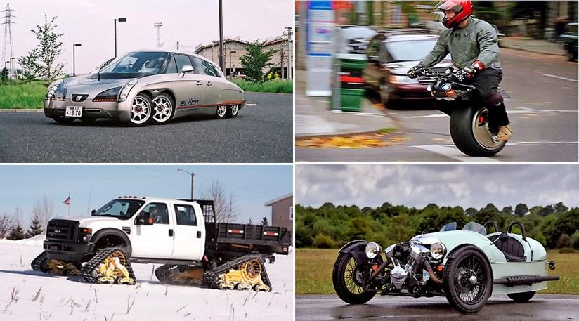 The CAR Top Strange Wheel Configurations CAR Magazine - Show wheels on your car