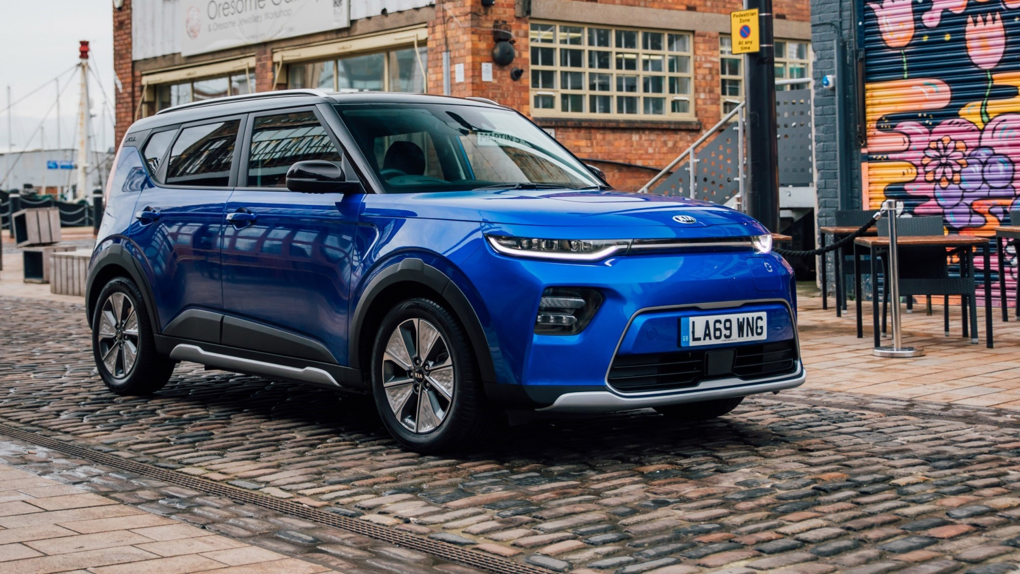 2020 Kia Soul EV front three quarter