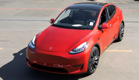 The millionth Tesla: a red Model Y