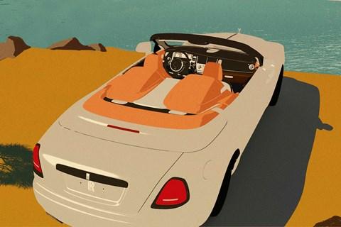 2020 Rolls-Royce Dawn Silver Bullet Collection rear three-quarter Art Deco