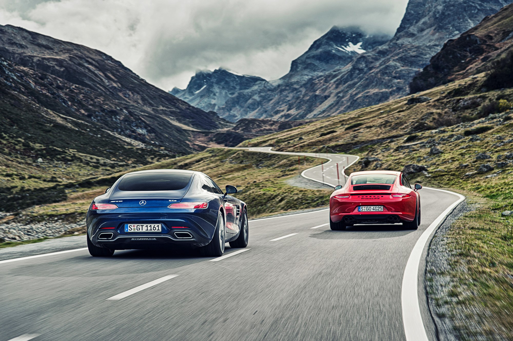 Mercedes Amg Gts Vs Porsche 911 Gts 2015 Review By Car