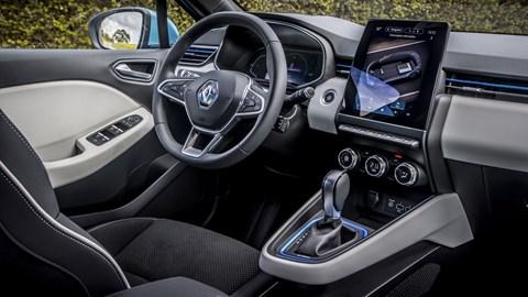 Renault Clio E-Tech hybrid interior, 2020