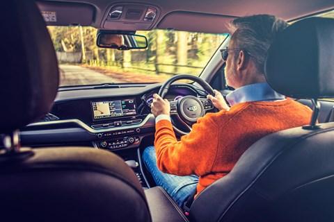 Kia Niro LTT driving