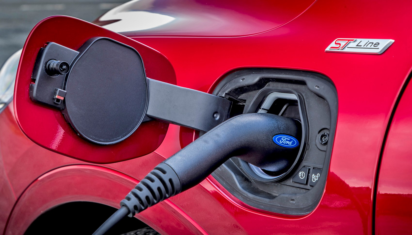 Lucid Red 2020 Ford Kuga ST-Line First Edition PHEV charging port