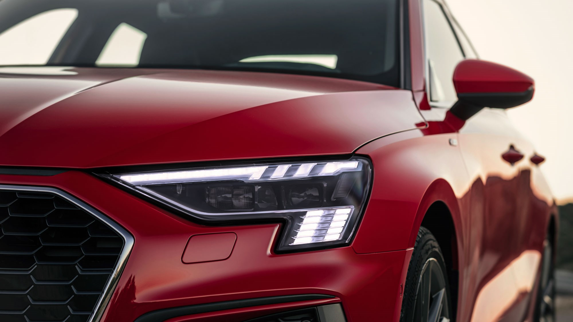 New Audi A3 Sportback headlamps detail