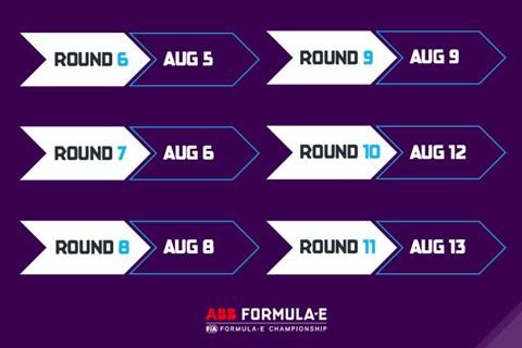 Formula E calendar
