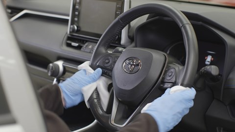 Coronavirus - advice for drivers cleaning