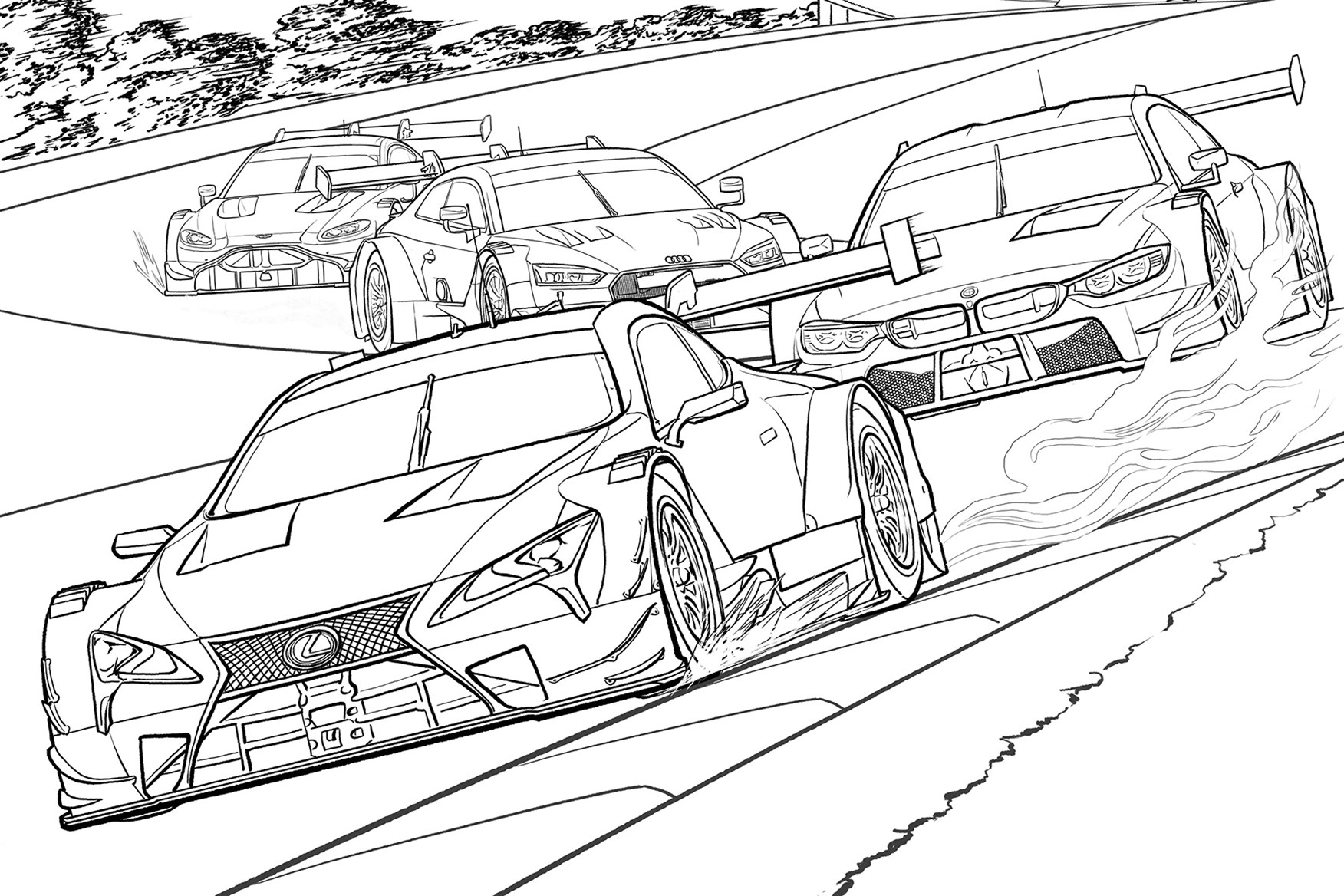 50 shades of cray-on: the best car colouring pages for