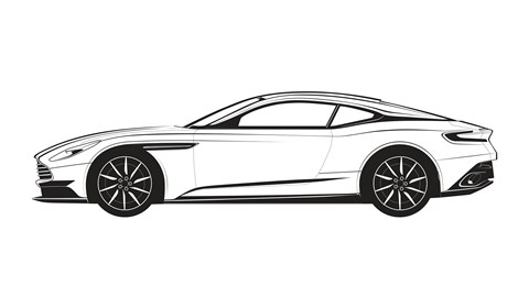 Aston Martin DB11 colouring page