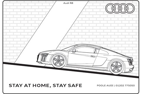 Audi R8 colouring-in