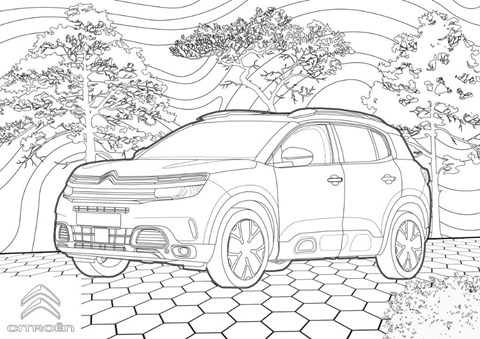 Citroen C5 colouring page