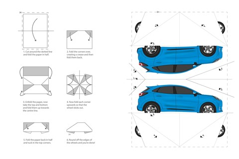 Build your own origami Ford Puma