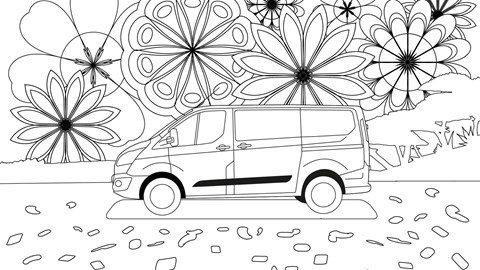 Ford Transit colouring page