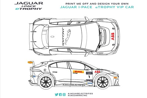 Jaguar I-Pace colouring-in