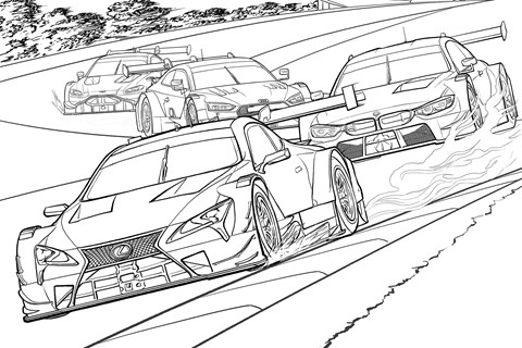 Lexus LC 500 Super GT colouring page