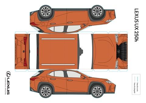 Lexus UX paper model
