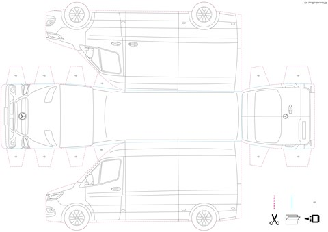 Mercedes-Benz Sprinter cut-out