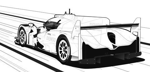 Toyota TS050 Hybrid colouring page
