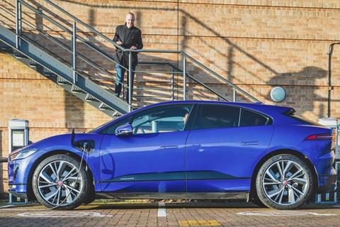CAR magazine's Jaguar i-Pace and keeper Phil McNamara