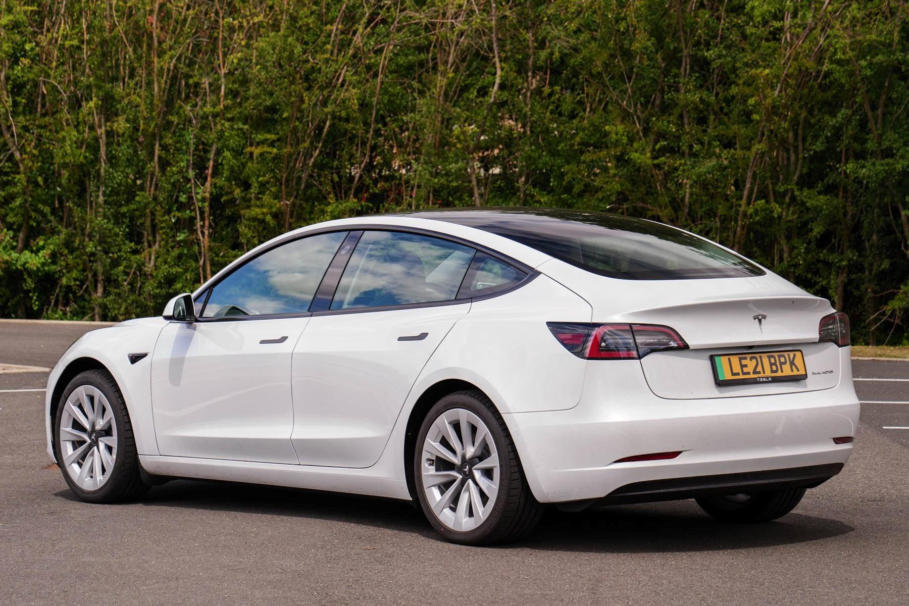 Tesla Model 3 UK rear view