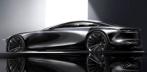 Official design sketch of 2017 Vision Coupe concept points to next chapter of Kodo design language