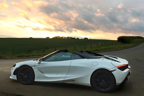 720s spider sunset