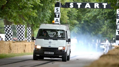 Ford Transit with an XJ220 V6 at Goodwood FOS