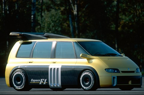 Ok, not so much a van as an MPV - but with some serious F1-donated mods: the Renault Espace F1