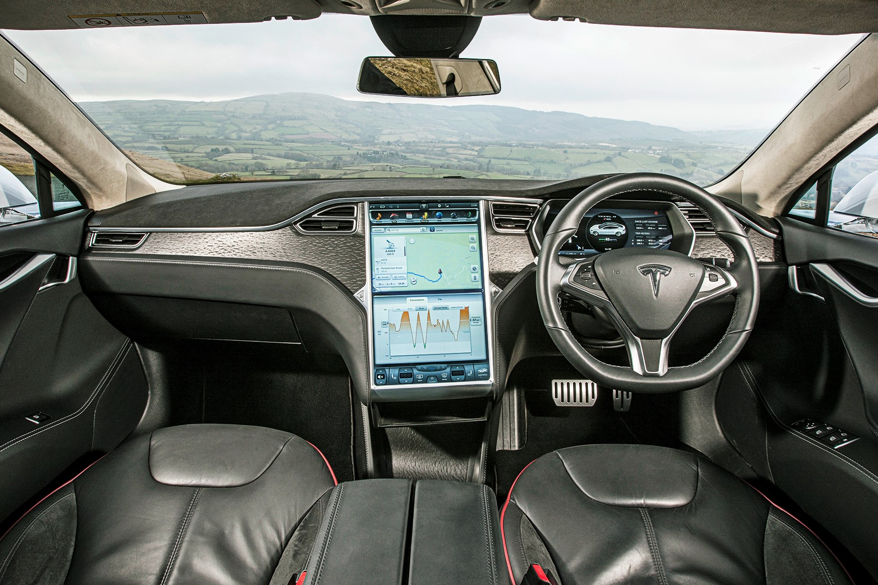 Tesla Mode S interior