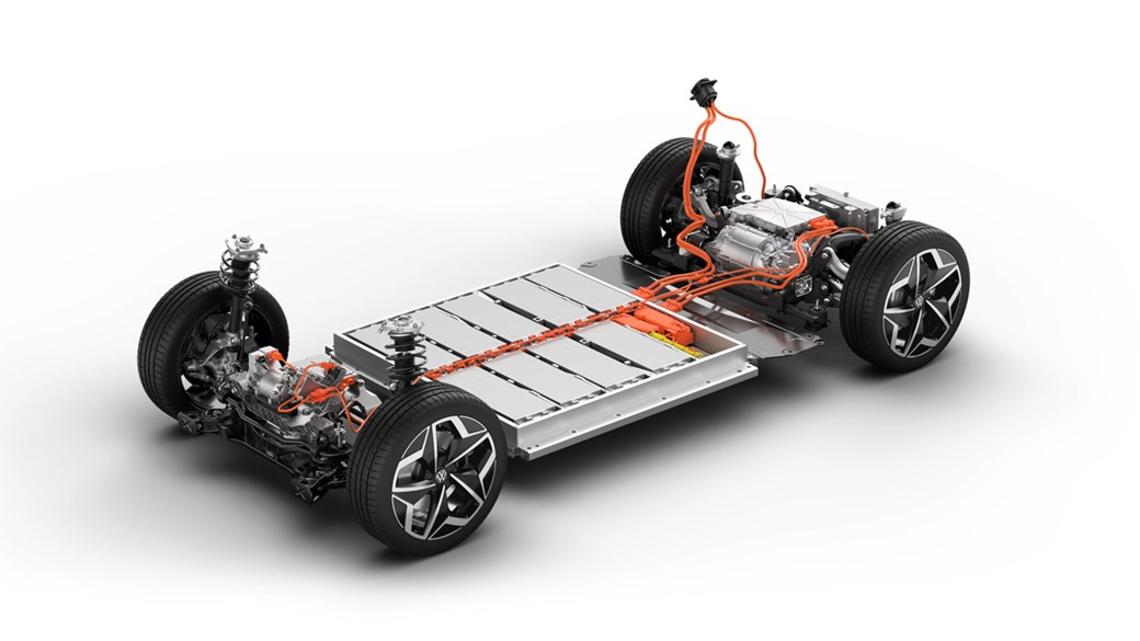 Electric vehicles (EVs) normally store the batteries along the bottom of the chassis